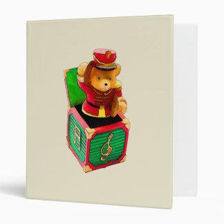 Teddy Bear JAck in the Box Vinyl Binders