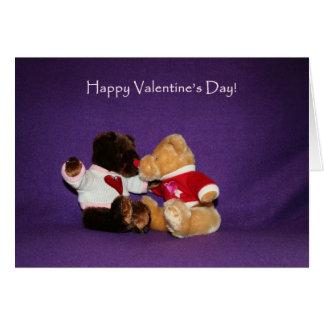 Teddy Bear Kiss Valentine's Day Card