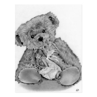 Teddy Bear Little Fairy  Postcard