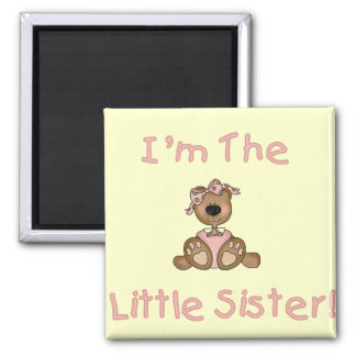 Teddy Bear Little Sister Tshirts and Gifts Square Magnet