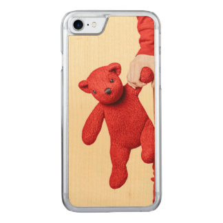 Teddy bear love carved iPhone 8/7 case