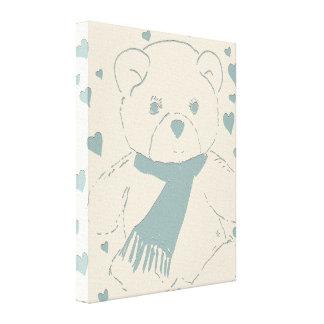 Teddy Bear Love Stretched Canvas Print