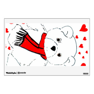 teddy bear love wall sticker
