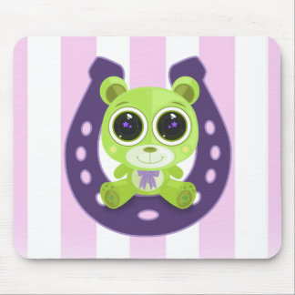 Teddy Bear - Lucky Green Mouse Pad