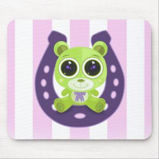 Teddy Bear - Lucky Green Mousepads