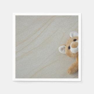 Teddy Bear Marble Paper Napkin