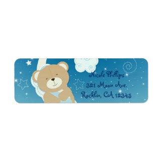 Teddy Bear Moon & Stars Baby Shower Invitation