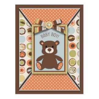 Teddy Bear & Novelty Dot Baby Shower Advice cArd Post Cards