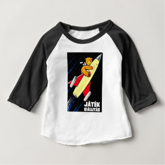 Teddy Bear On A Rocket Vintage Hungarian Toy Fair Baby T-Shirt