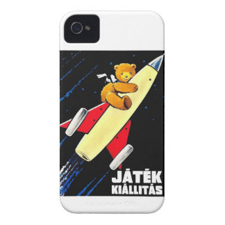 Teddy Bear On A Rocket Vintage Hungarian Toy Fair iPhone 4 Cover
