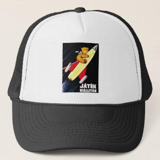 Teddy Bear On A Rocket Vintage Hungarian Toy Fair Trucker Hat