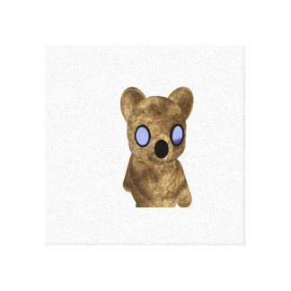 Teddy Bear on Canvas Stretched Canvas Prints