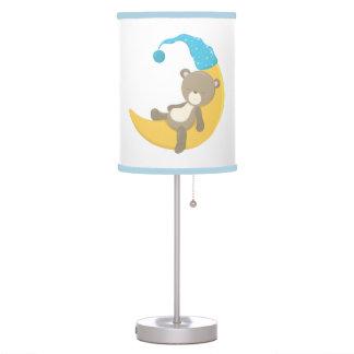 Teddy Bear on Crescent Mooon Table Lamp