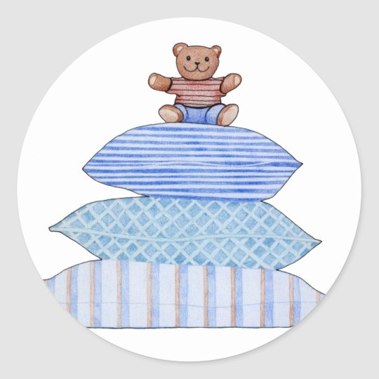 Teddy Bear on Cushions Sticker