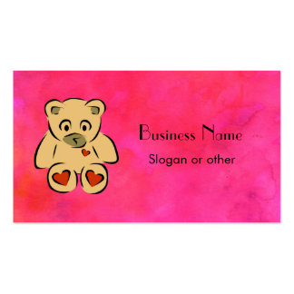 Teddy Bear Pack Of Standard Business Cards
