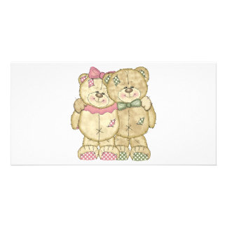 Teddy Bear Pair - Original Colors Photo Card Template