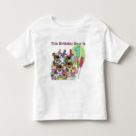 Teddy Bear Party 1st Birthday tshirts and Gifts