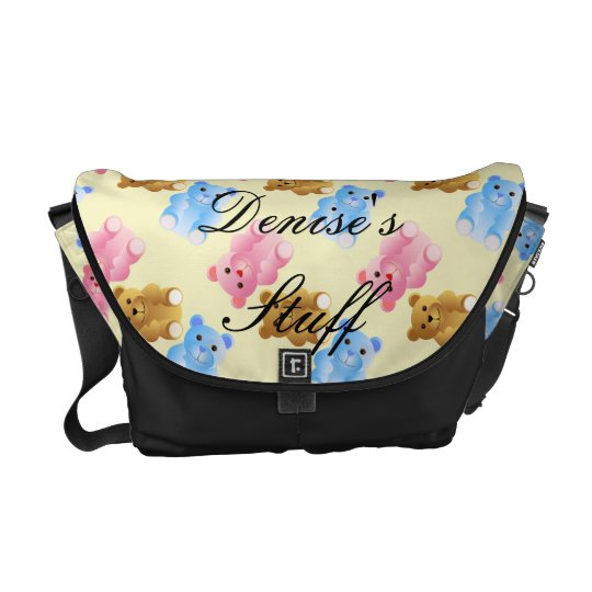 Teddy Bear Pattern Messenger Bag