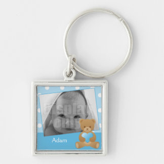 Teddy bear photo keychain