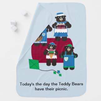 Teddy Bear Picnic Baby Blanket