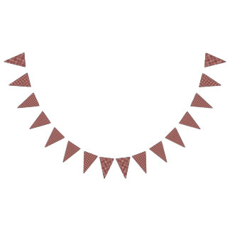 Teddy Bear Picnic Birthday Red Gingham Bunting Flags