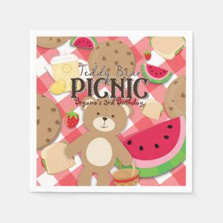 Teddy Bear Picnic Summer Birthday Party Custom Disposable Napkin