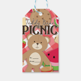 Teddy Bear Picnic Summer Birthday Party Favor Gift Tags