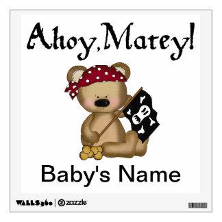 Teddy Bear Pirate - Ahoy Matey Wall Sticker