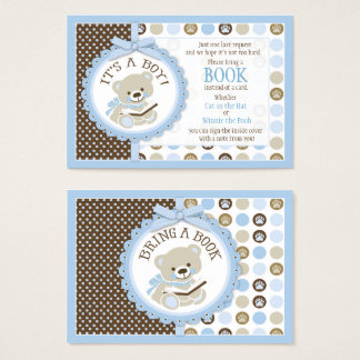 Teddy Bear Polka Dots Bring a Book Card