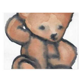 Teddy Bear Pondering CricketDiane Designer Stuff Postcard