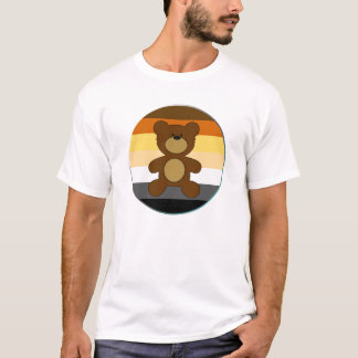 Teddy Bear Pride Flag Black Paw Back T-Shirt