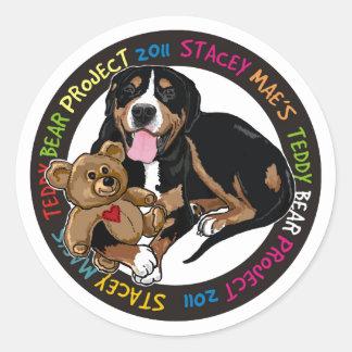 Teddy bear project sticker