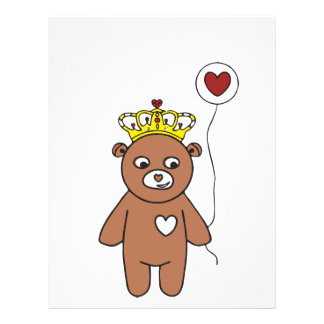 teddy bear queen letterhead