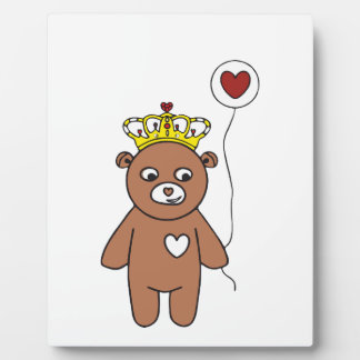 teddy bear queen plaque