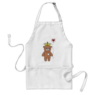 teddy bear queen standard apron