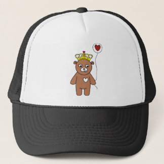 teddy bear queen trucker hat