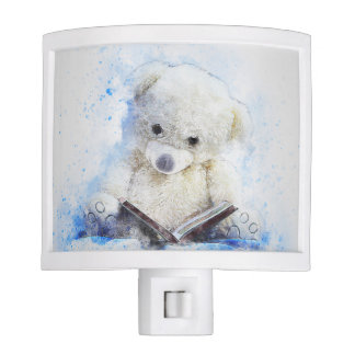 Teddy Bear Reading Night Light