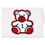 Teddy Bear Red White jGibney The MUSEUM Zazzle