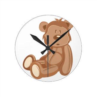 Teddy Bear Round Clock