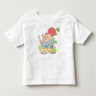 Teddy bear samurai toddler t-shirt