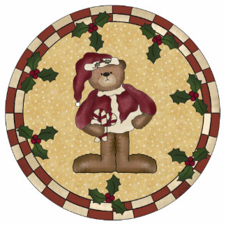 Teddy Bear Santa Ornament Photo Cut Outs