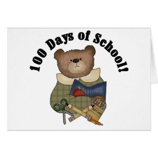 Teddy Bear School 100 Days Card