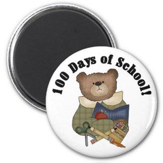Teddy Bear School 100 Days Fridge Magnets