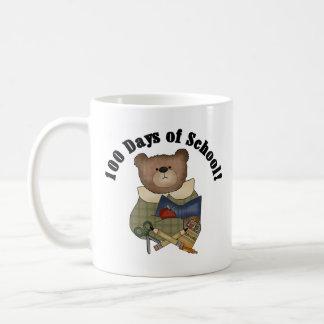 Teddy Bear School 100 Days Coffee Mugs
