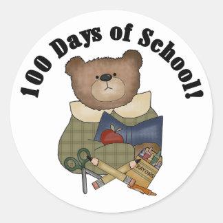 Teddy Bear School 100 Days Stickers