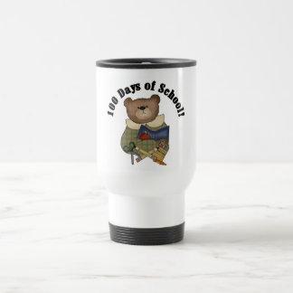 Teddy Bear School 100 Days Tshirts and Gifts 15 Oz Stainless Steel Travel Mug
