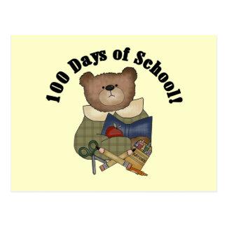 Teddy Bear School 100 Days Tshirts and Gifts Postcard