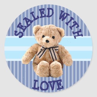 Teddy Bear Sealed with Love Sticker