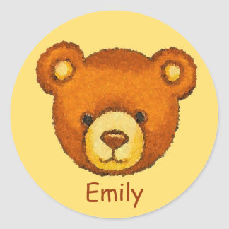 Teddy Bear Stickers ~ Custom Name ~ Personalize