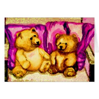 Teddy Bear Talks  CricketDiane Art & Design Card
